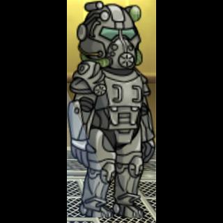 Male wearing T-60 power armor