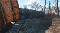 Train car exterior low