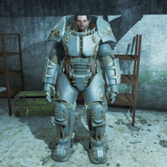 Danse in X-01 power armor after Blind Betrayal