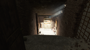 FO4 Cambridge Police station motor pool stairs