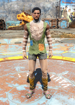 Fo4 Patchwork Sweater and Shorts