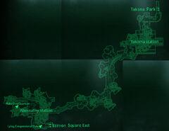 Metro VE Takoma Park loc map