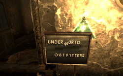Underworld Outfitters sign