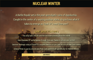 Fo76nw Nuclear Winter gameplay start screen
