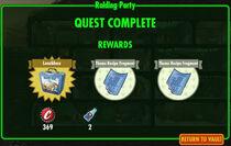 FoS Raiding Party rewards