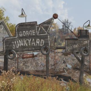 Gorge Junkyard sign