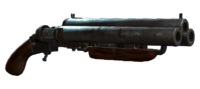 Triple-barrel handmade shotgun profile