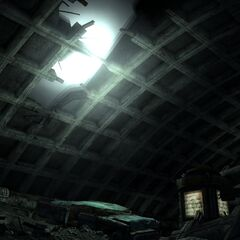 Corvega crashed through ceiling fissure