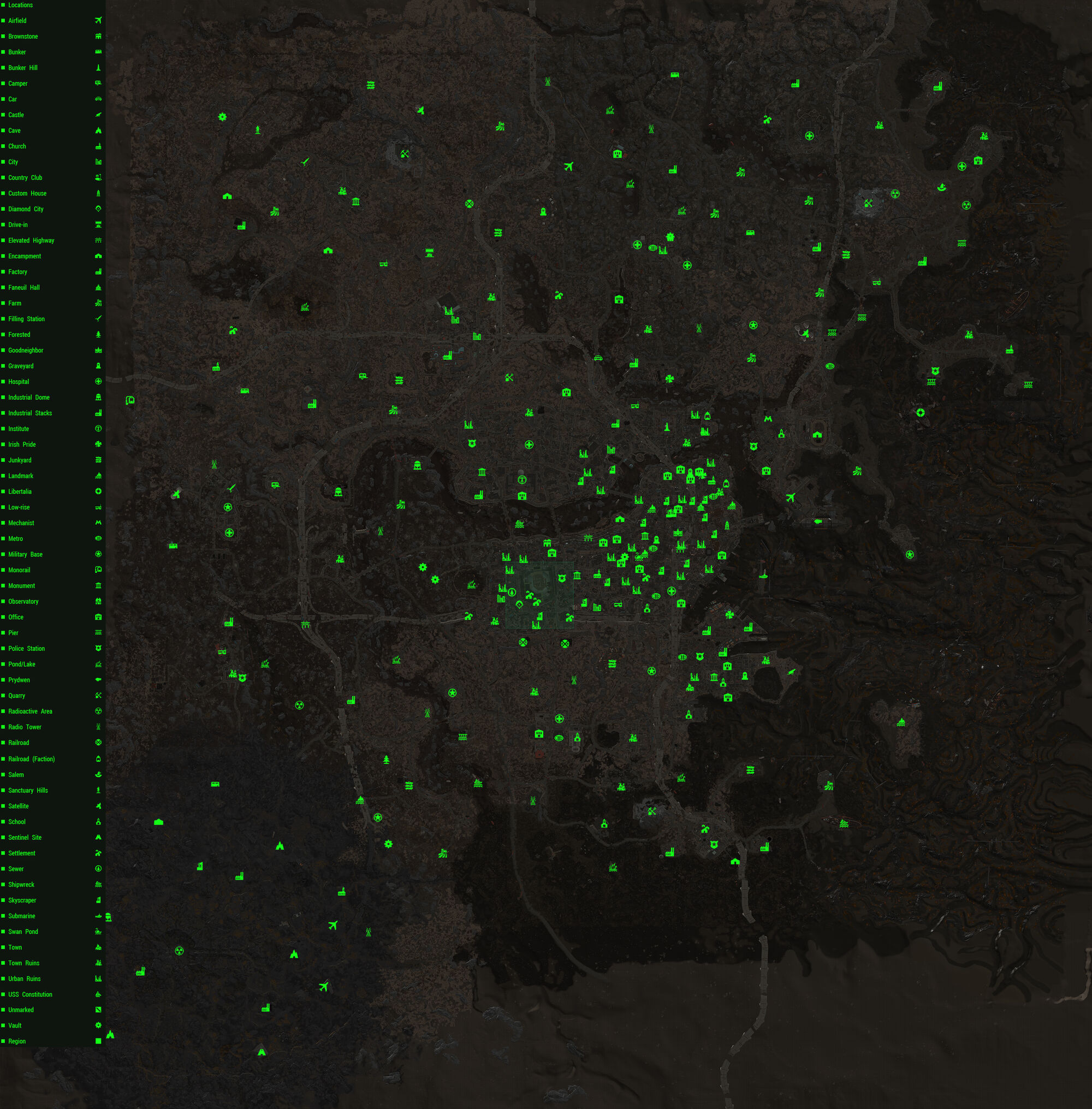 Fallout 4 map | Fallout Wiki | FANDOM powered by Wikia
