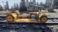 Rail service car