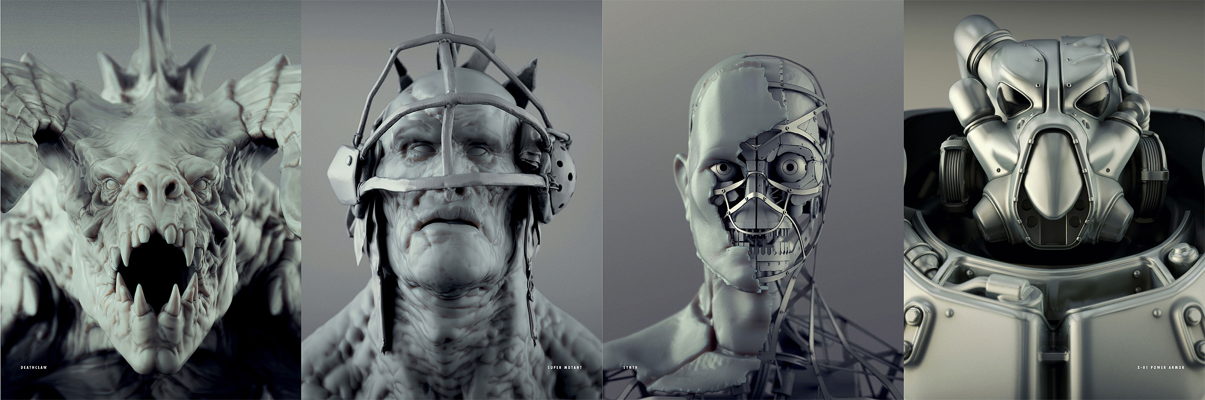 Fo4 creatures heads concept art