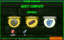 FoS Friendly Settlement! rewards B