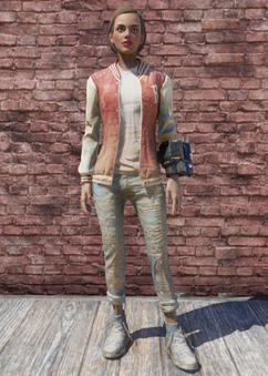 FO76 Letterman Jacket and Jeans
