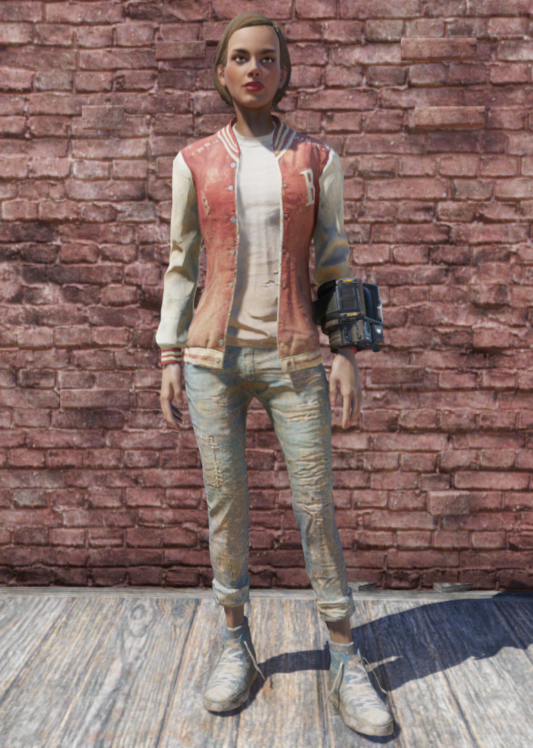 Letterman S Jacket And Jeans Fallout 76 Fallout Wiki Fandom
