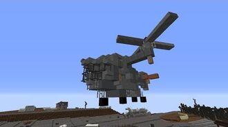 Fallout Dallas - Minecraft Vertibird demo