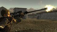 Materiel rifle side shot