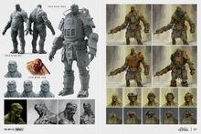 Art of Fo4 super mutant behemoth concept art