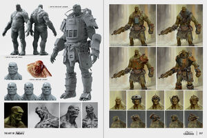 Art of Fo4 super mutant behemoth concept art