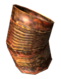Bent tin can