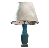 Blue table lamp