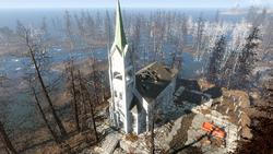 FO4FH Ruined church1