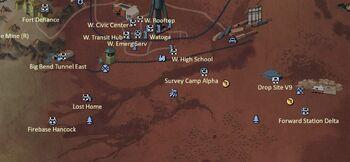 FO76 Power Armor Map Cranberry Bog South