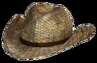 Rattan cowboy hat