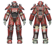 FO4 T-45 power armor hot rod flames