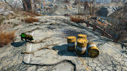 Fo4 Radioactive barrel and giant glowing frenzied creature
