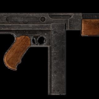 Пістолет-кулемет кал. 45 Авто з встановленим компенсатором віддачі.
