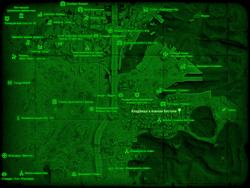 FO4 Кладбище в южном Бостоне (карта мира)