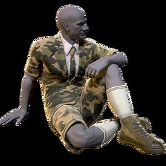 FO76 Atomic Shop - Camouflage short suit