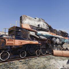 Atomic-drive locomotive