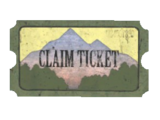 Pleasant Valley claim ticket