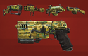 FO4CC Weapon Paint Job Swamp Camo