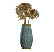 Teal rounded vase