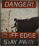 FO4 Poster Danger cliff edge stay away