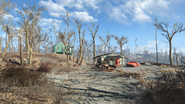 FO4 The splintered statue parking