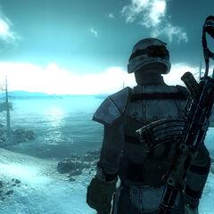Самотній Подорожній в утепленій бойовій броні