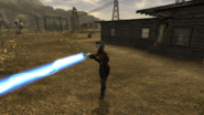 FNV Bug Pulse gun in the hands of a Fiend