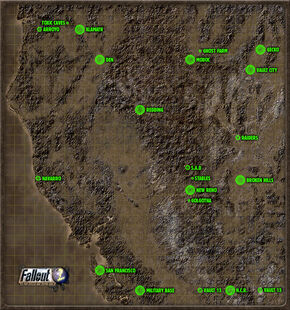 World Map Fallout Wiki FANDOM Powered By Wikia - Fallout game map of us