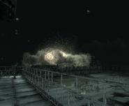 Взрыв мобильной гусеничной базы