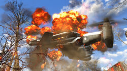 FO4 Burning Vertibird