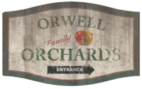 FO76 Orwell Orchards sign