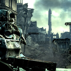 The T-45d power armor in the <i>Fallout 3</i> teaser