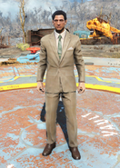 Fo4Clean Tan Suit male