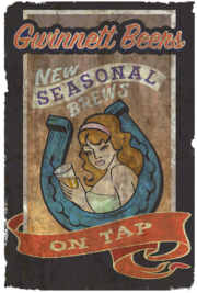 Fo4 Poster Theater (Gwinnett Beers New seasonal brew on tap)