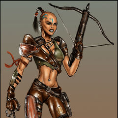 Female tribal concept art from <i><a href=