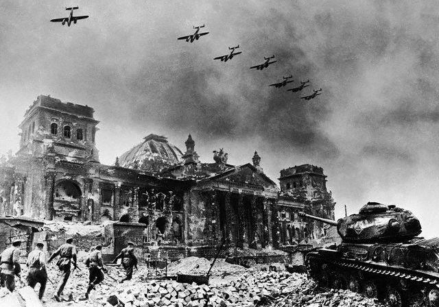 Yevgeny Khaldei - Reichstag After Fall of Berlin - 1945