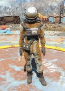 Damaged hazmat suit female